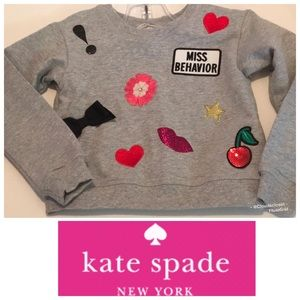 KATE SPADE ♠️ APPLIQUED SWEATSHIRT GRAY 3 YEAR